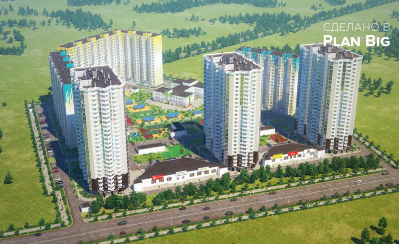 3D-изображения ЖК «Зеленоградский»